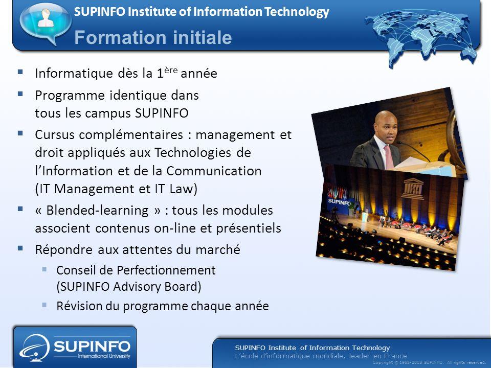 Formation initiale Informatique dès la 1ère année