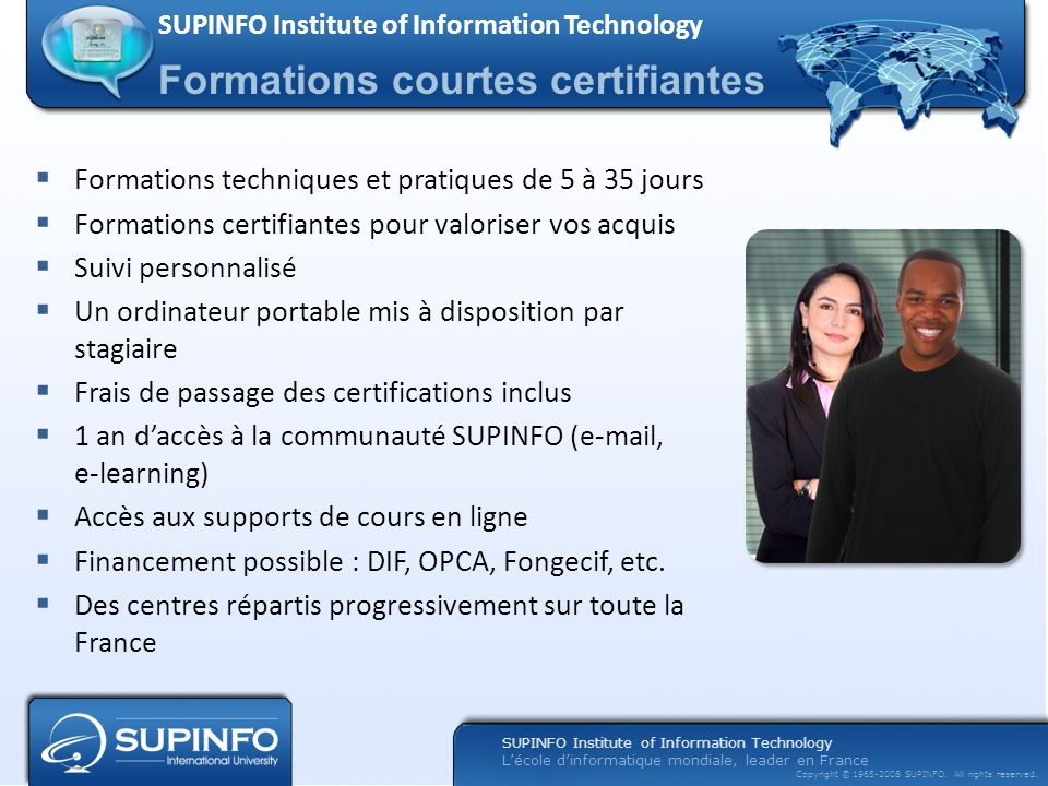 Formations courtes certifiantes