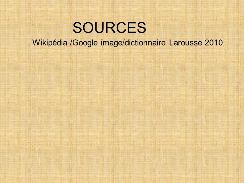 Wikipédia /Google image/dictionnaire Larousse 2010