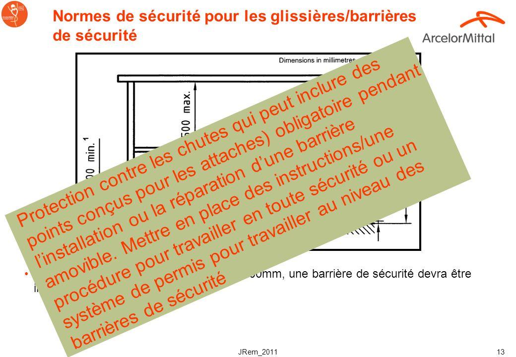 Normes de sécurité pour les glissières/barrières de sécurité