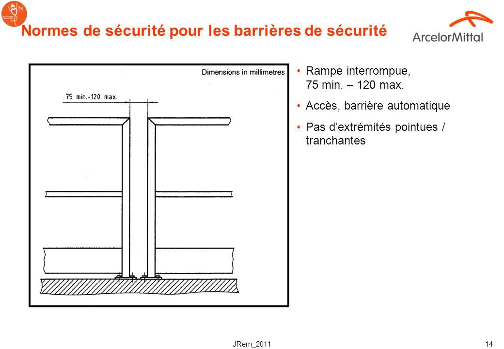 Normes de sécurité pour les barrières de sécurité
