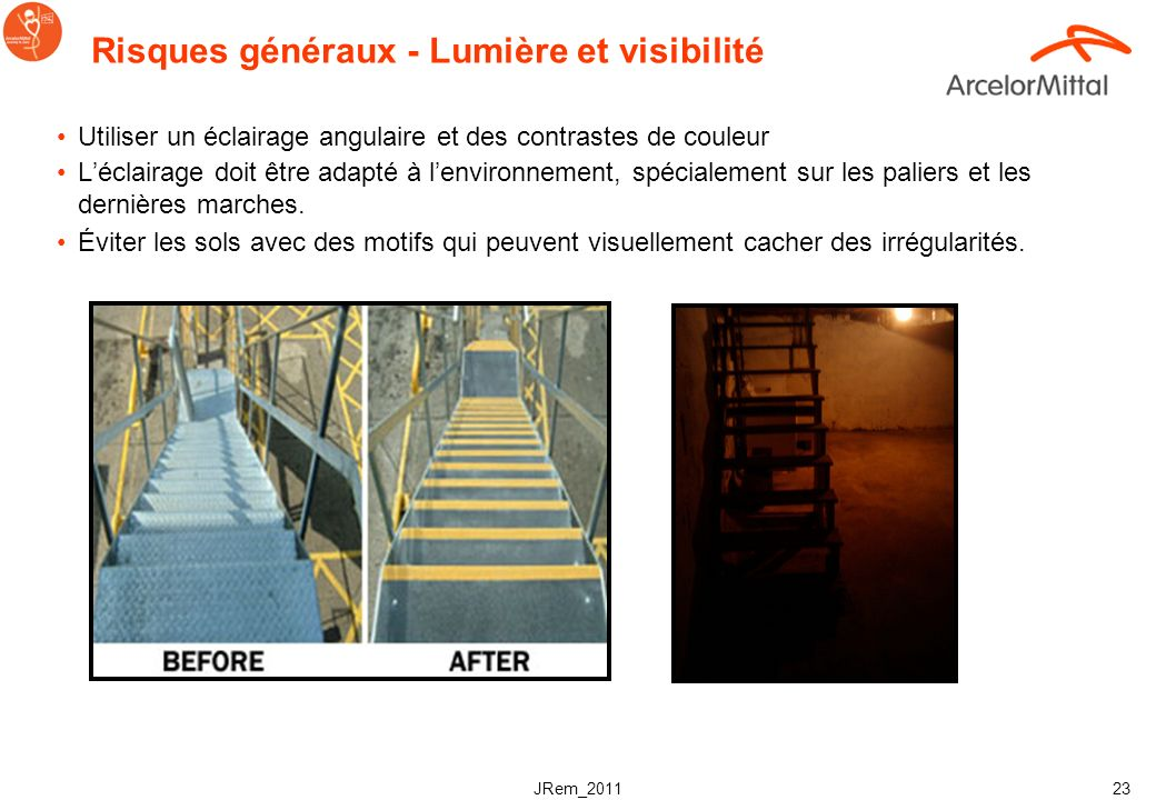 Risques généraux - Lumière et visibilité