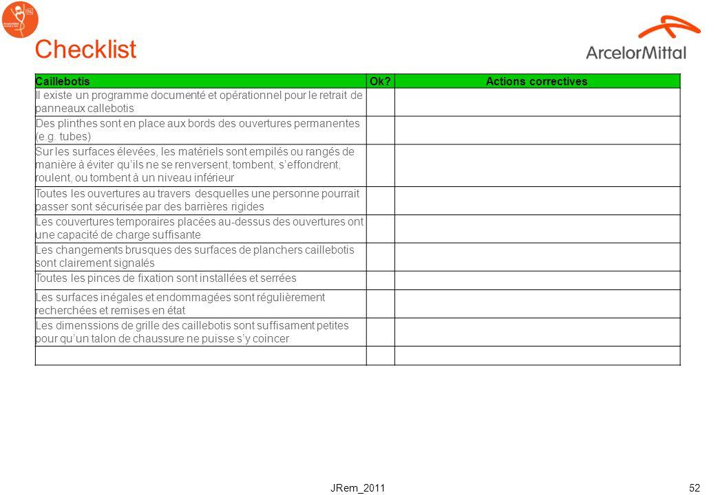 Checklist Caillebotis Ok Actions correctives