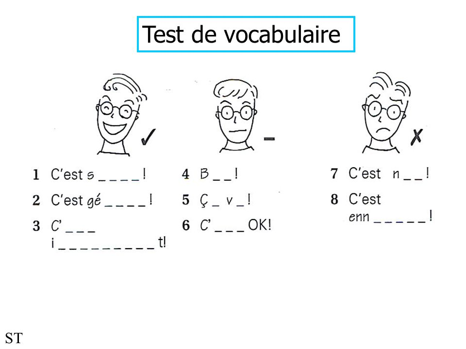 Test de vocabulaire ST