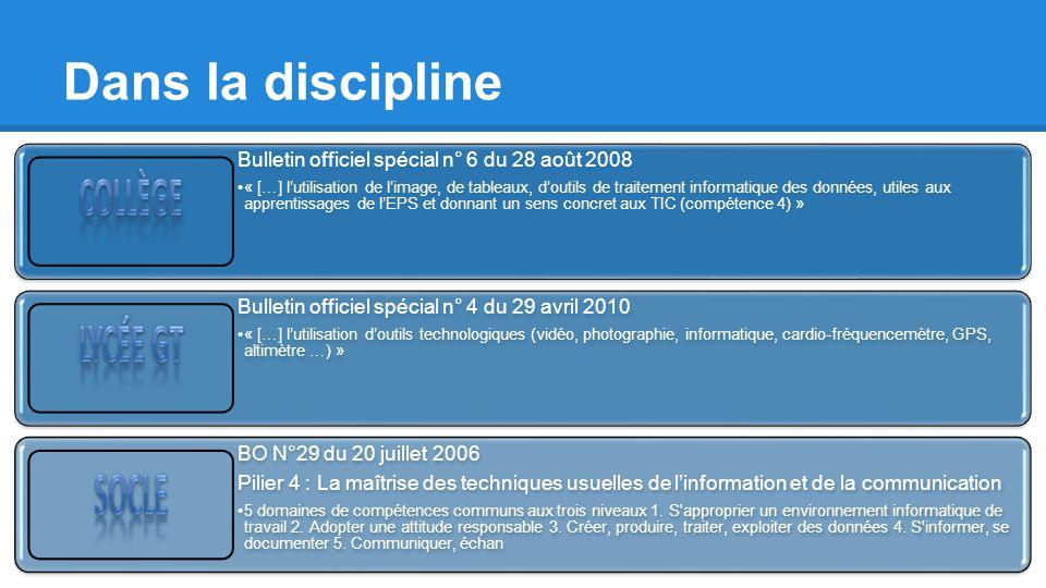 Dans la discipline Bulletin officiel spécial n° 6 du 28 août 2008