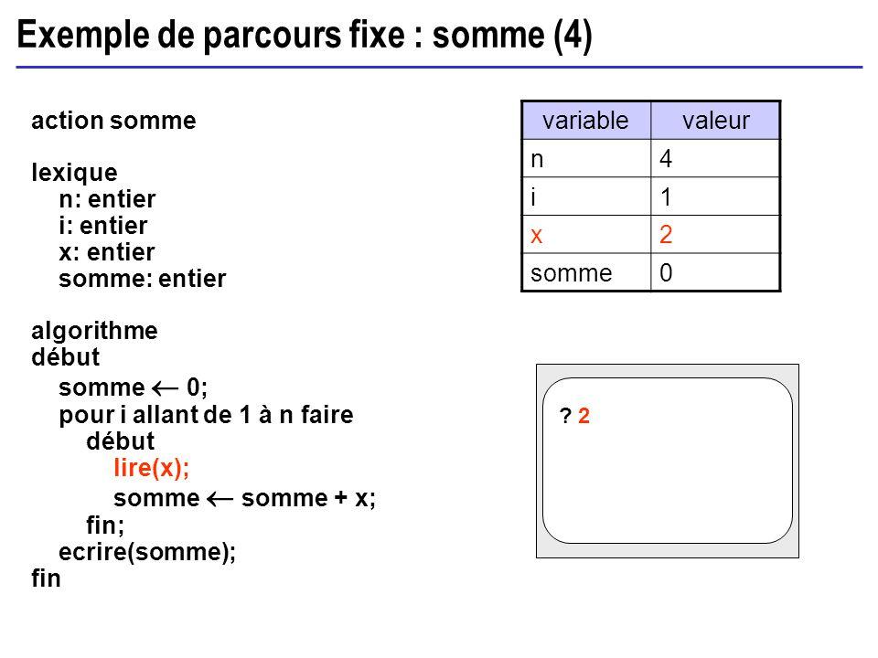 Exemple de parcours fixe : somme (4)