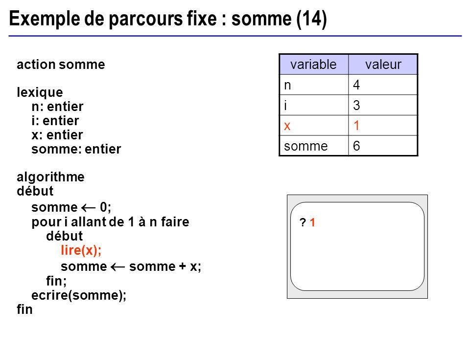 Exemple de parcours fixe : somme (14)
