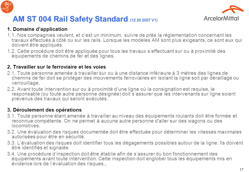 AM ST 004 Rail Safety Standard (12 20 2007 V1)