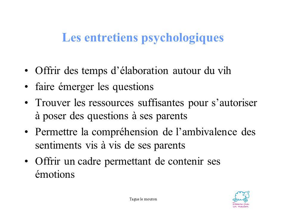 Les entretiens psychologiques