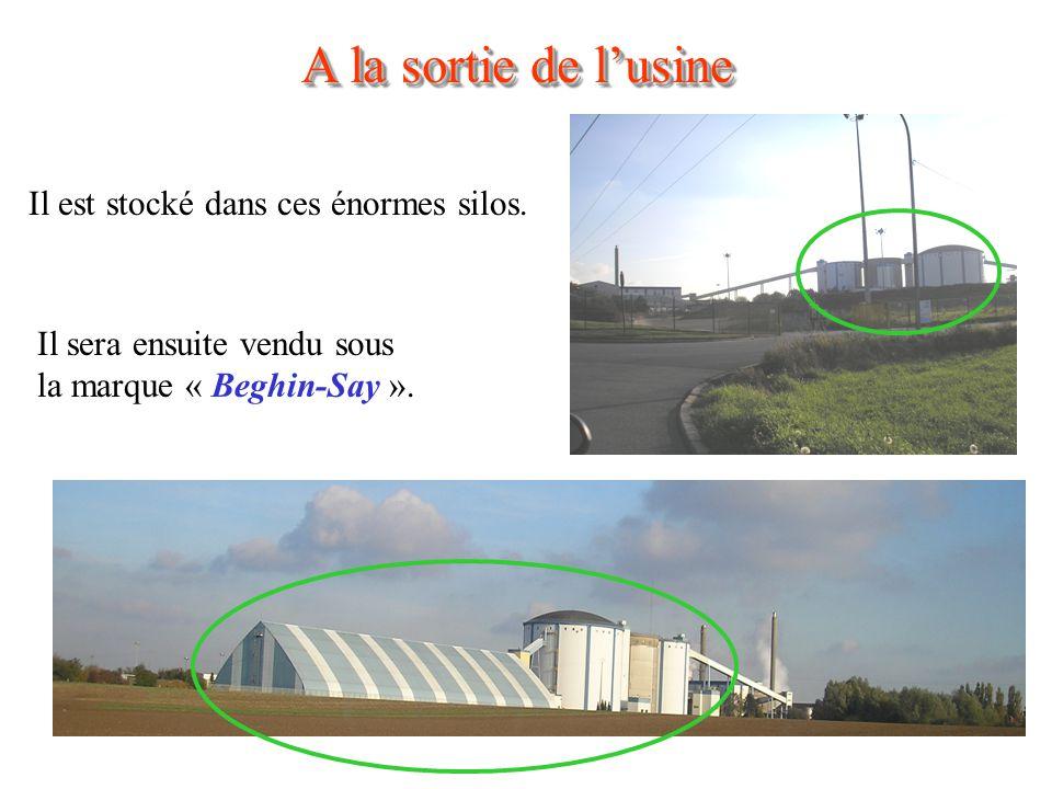 A la sortie de l'usine Il est stocké dans ces énormes silos.