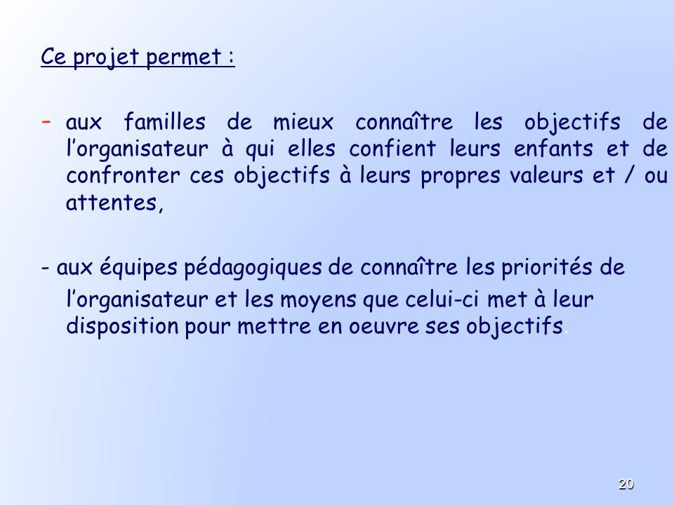 - aux équipes pédagogiques de connaître les priorités de