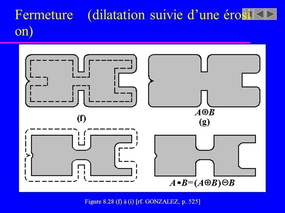 Fermeture (dilatation suivie d'une érosion)