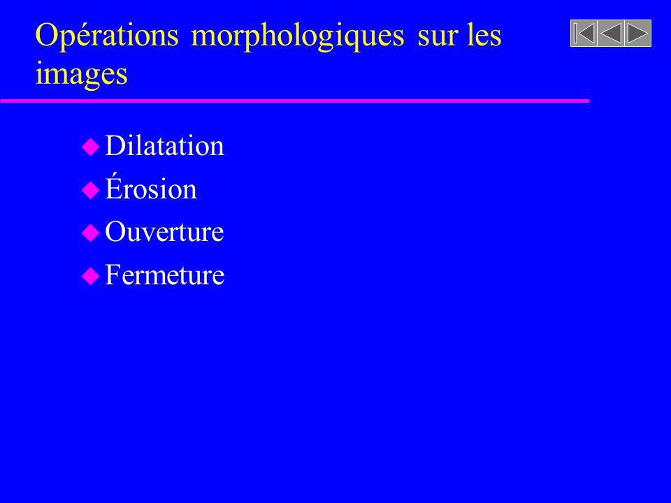 Opérations morphologiques sur les images
