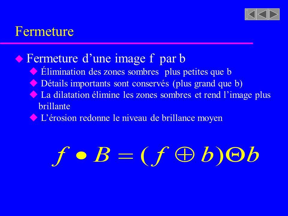 Fermeture Fermeture d'une image f par b