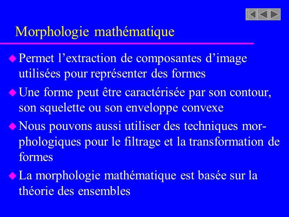 Morphologie mathématique