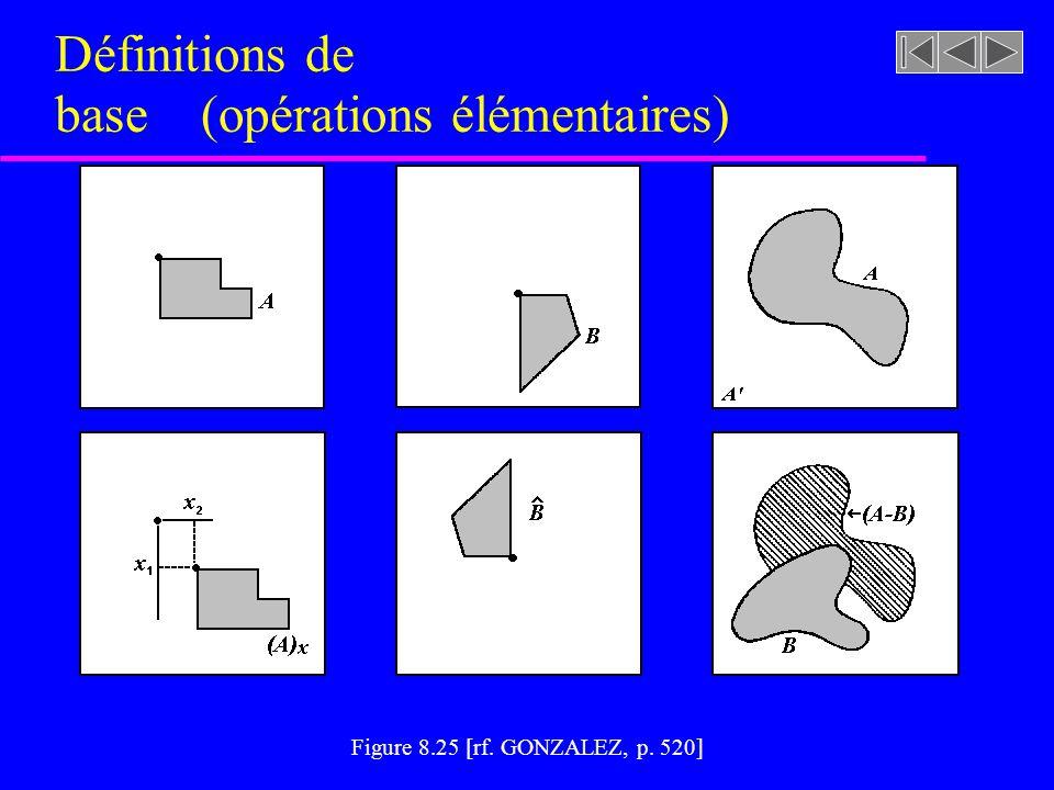Définitions de base (opérations élémentaires)