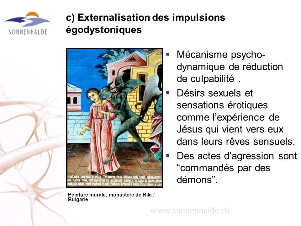 c) Externalisation des impulsions égodystoniques