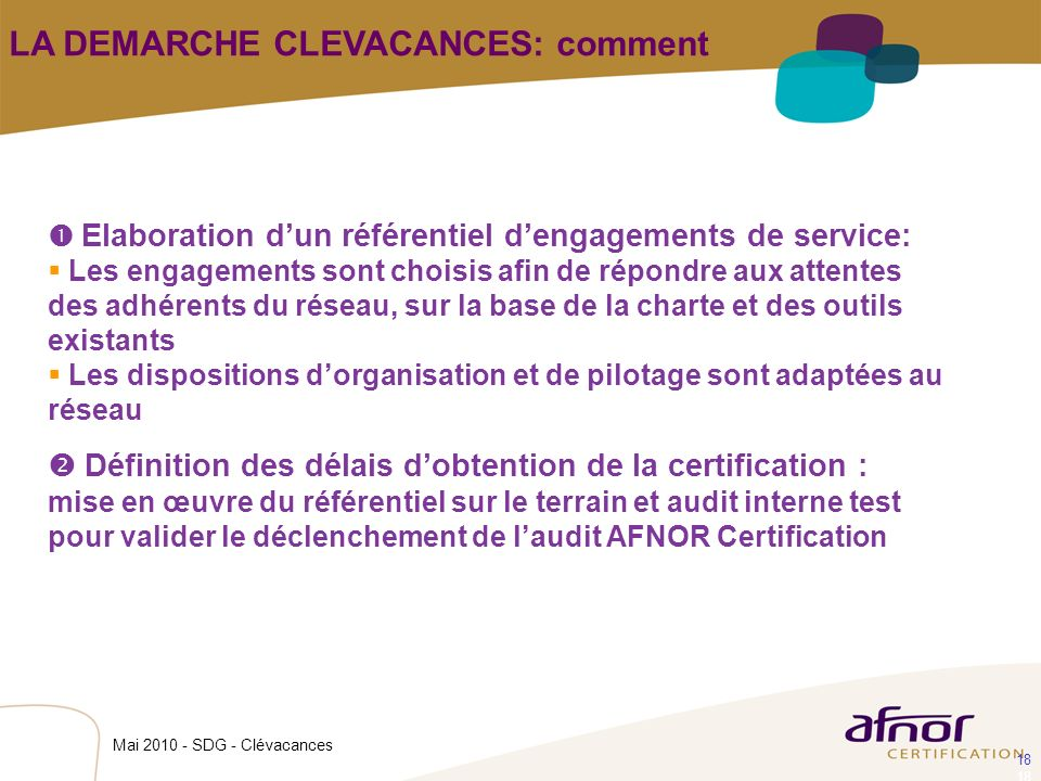 LA DEMARCHE CLEVACANCES: comment