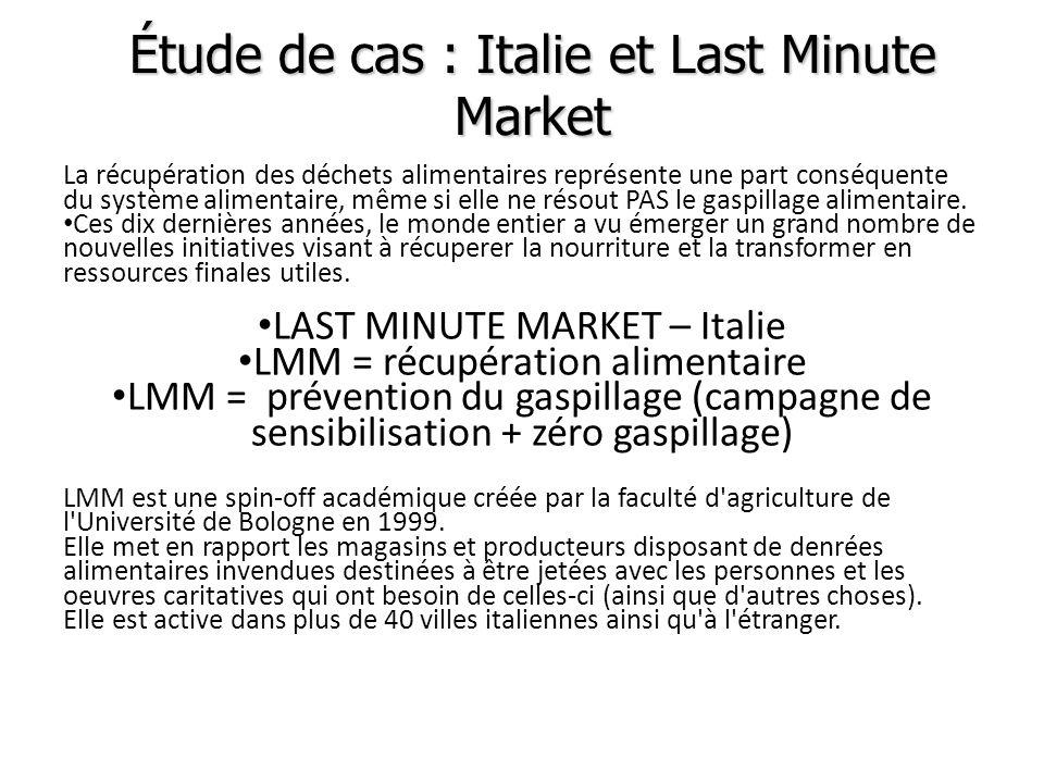 Étude de cas : Italie et Last Minute Market