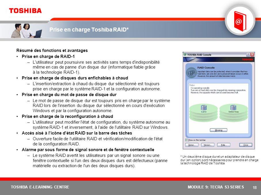 Prise en charge Toshiba RAID*