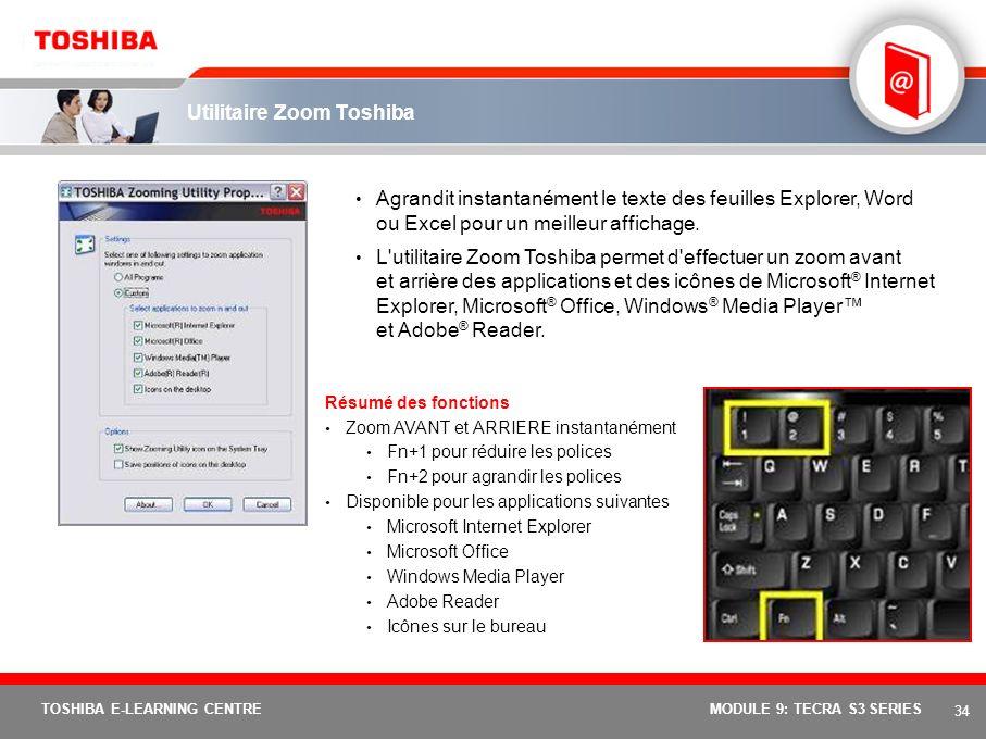 Utilitaire Zoom Toshiba