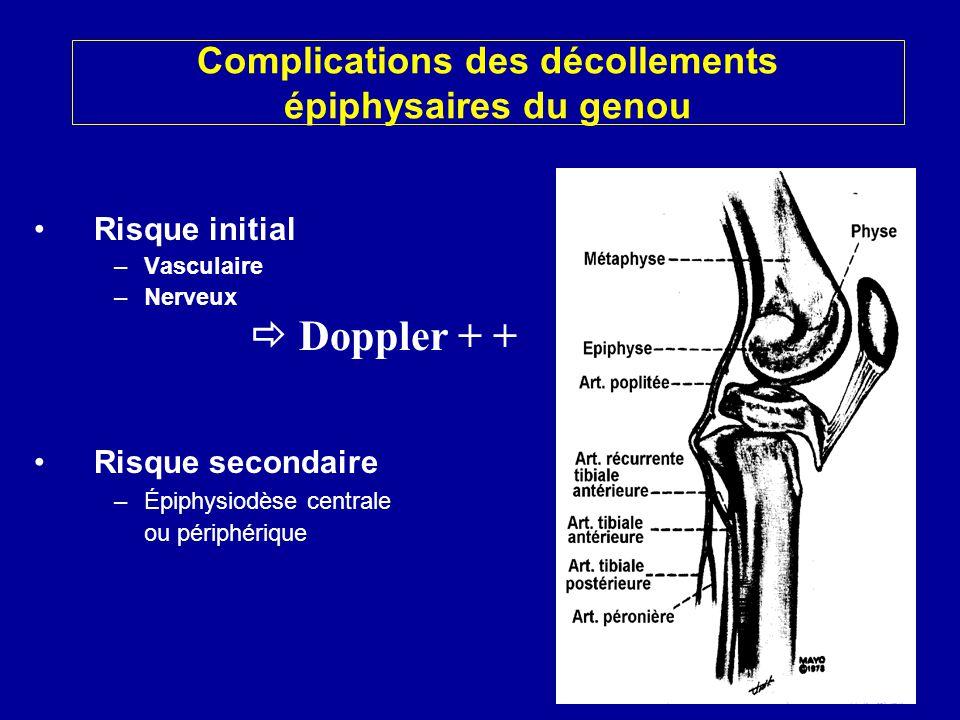 Complications des décollements épiphysaires du genou
