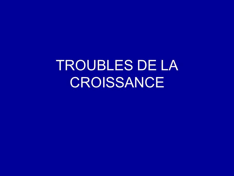 TROUBLES DE LA CROISSANCE