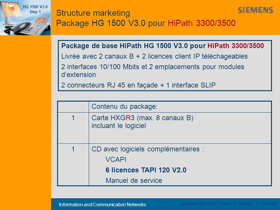 Structure marketing Package HG 1500 V3.0 pour HiPath 3300/3500