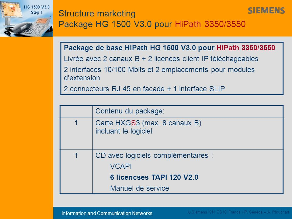 Structure marketing Package HG 1500 V3.0 pour HiPath 3350/3550