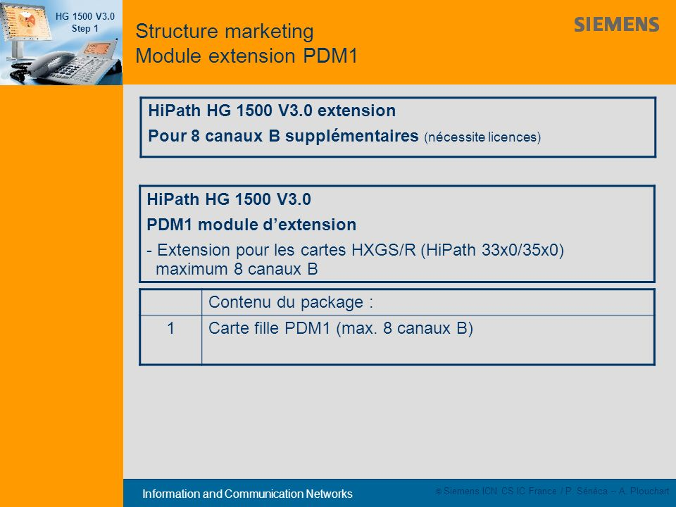 Structure marketing Module extension PDM1