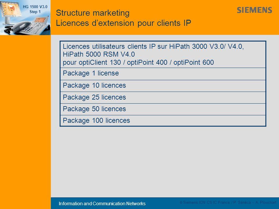 Structure marketing Licences d'extension pour clients IP