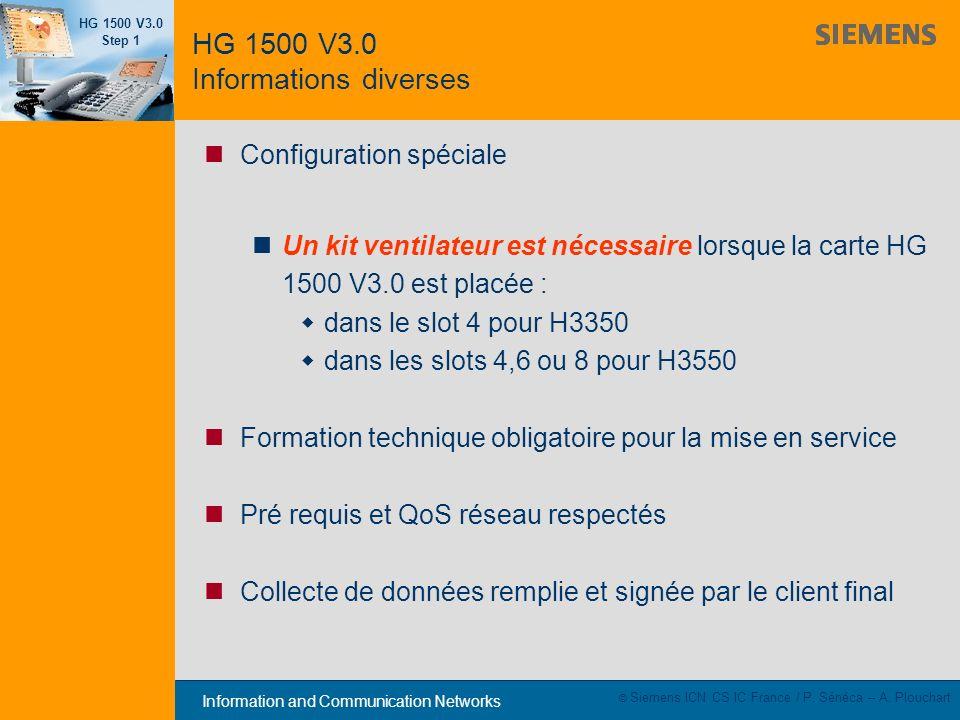 HG 1500 V3.0 Informations diverses