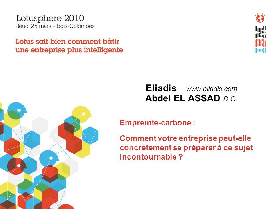Eliadis www.eliadis.com Abdel EL ASSAD D.G.