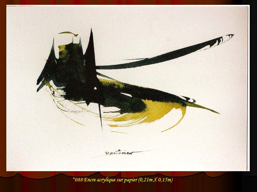*088 Encre acrylique sur papier (0,21m X 0,15m)