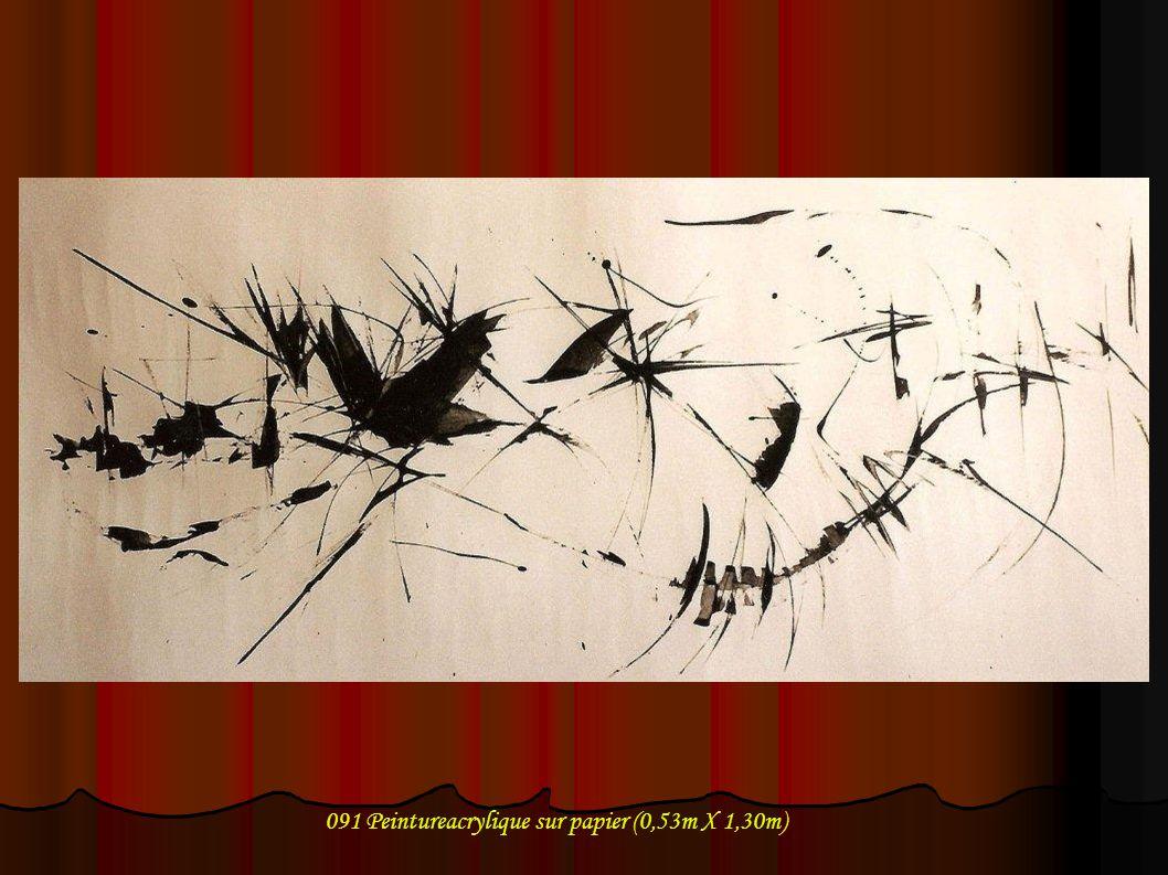 091 Peintureacrylique sur papier (0,53m X 1,30m)