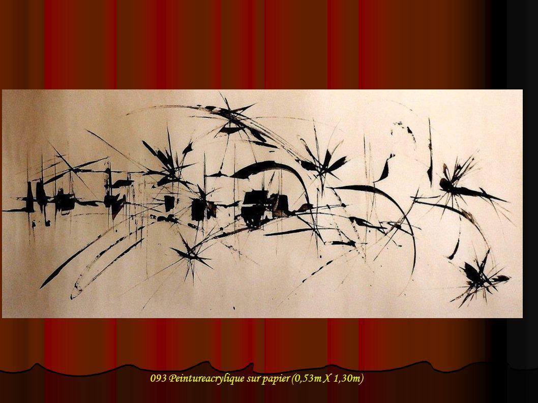 093 Peintureacrylique sur papier (0,53m X 1,30m)