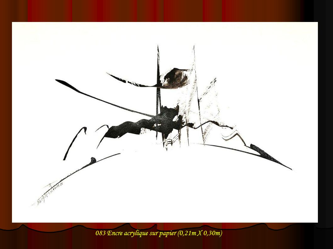 083 Encre acrylique sur papier (0,21m X 0,30m)