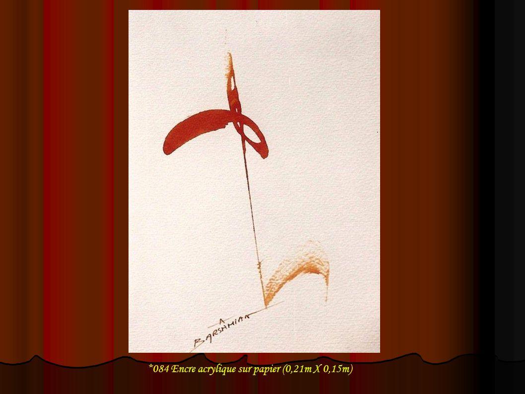 *084 Encre acrylique sur papier (0,21m X 0,15m)