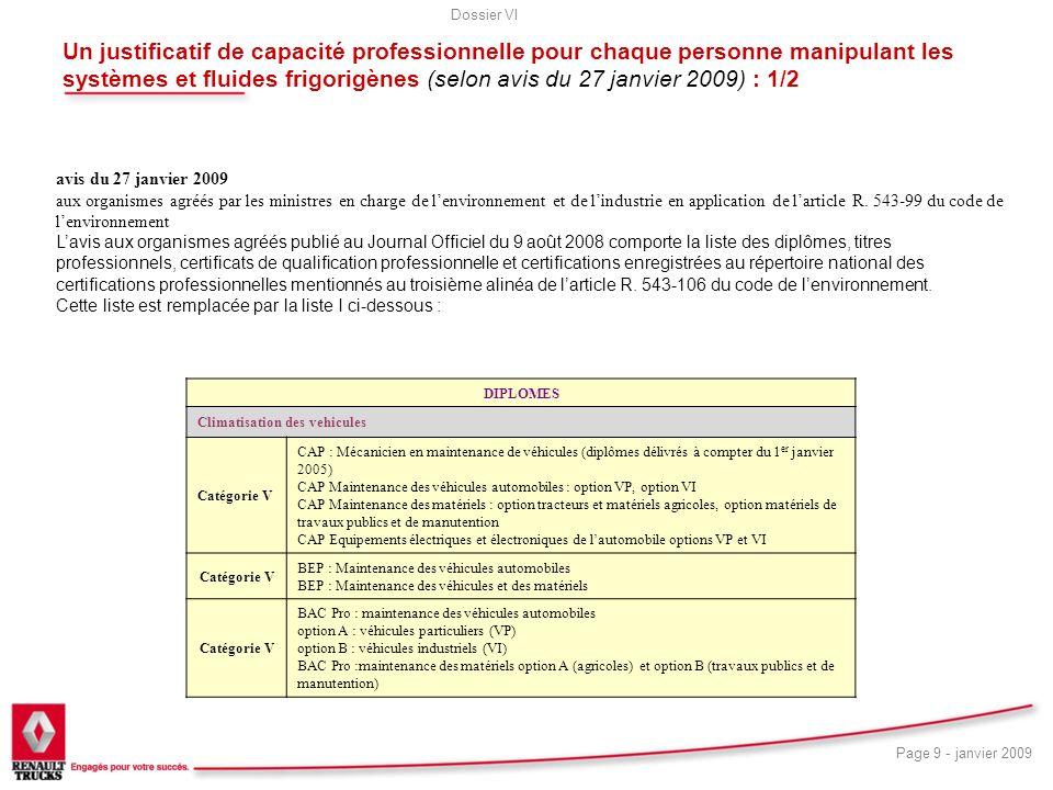 Un justificatif de capacité professionnelle pour chaque personne manipulant les systèmes et fluides frigorigènes (selon avis du 27 janvier 2009) : 1/2