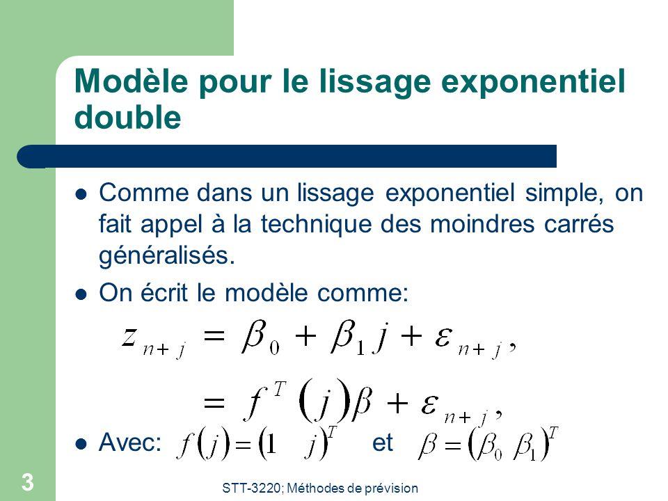 Modèle pour le lissage exponentiel double