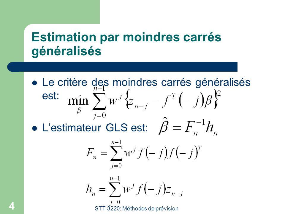 Estimation par moindres carrés généralisés