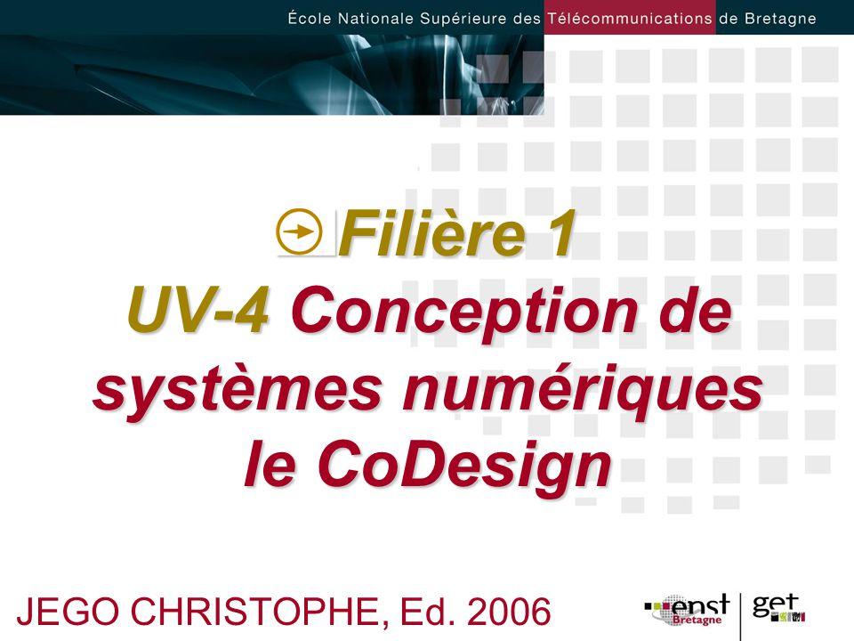 Filière 1 UV-4 Conception de systèmes numériques le CoDesign