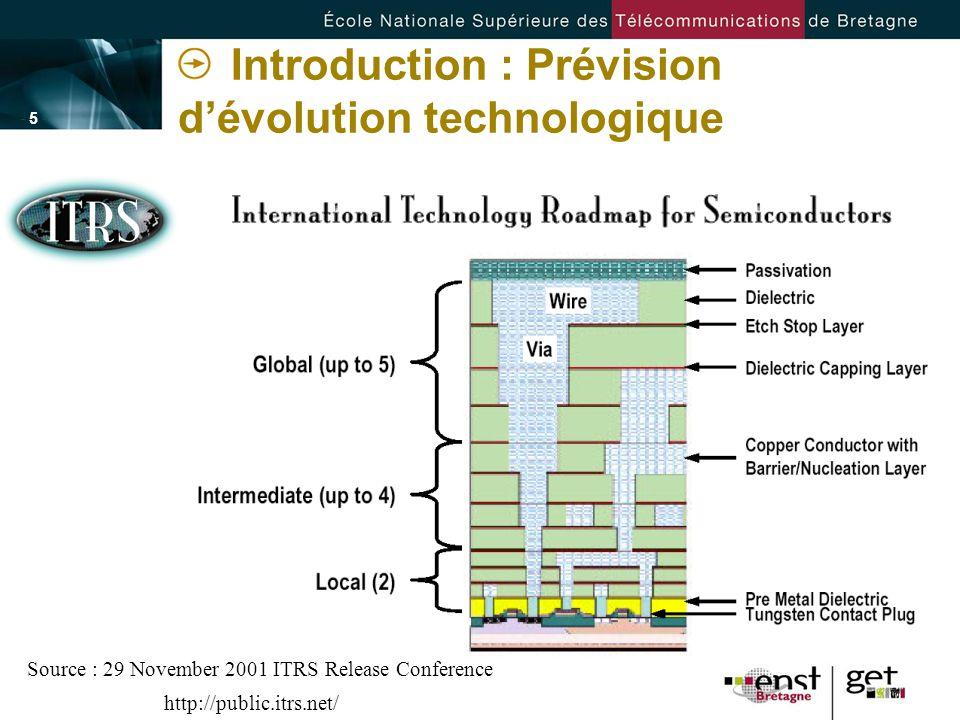 Introduction : Prévision d'évolution technologique