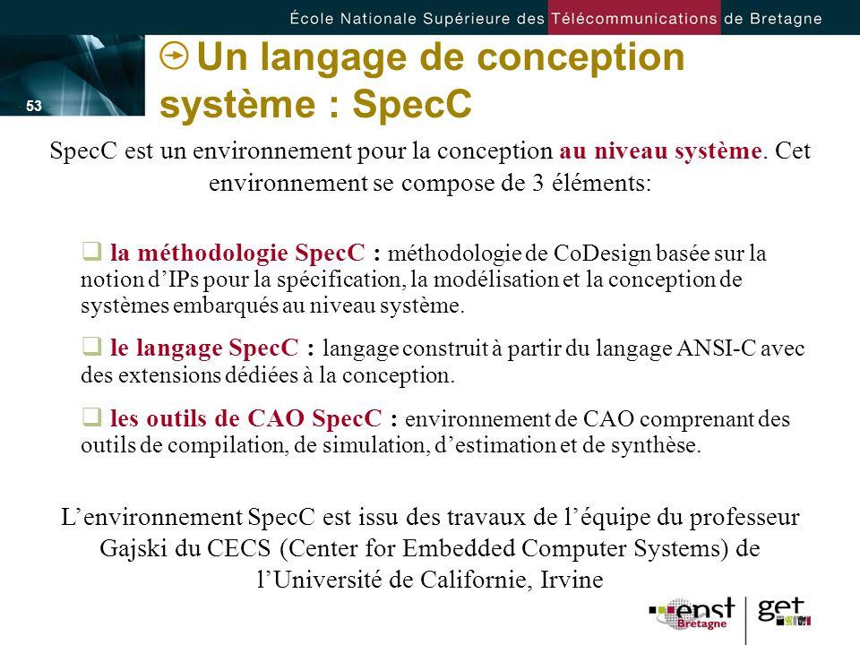 Un langage de conception système : SpecC