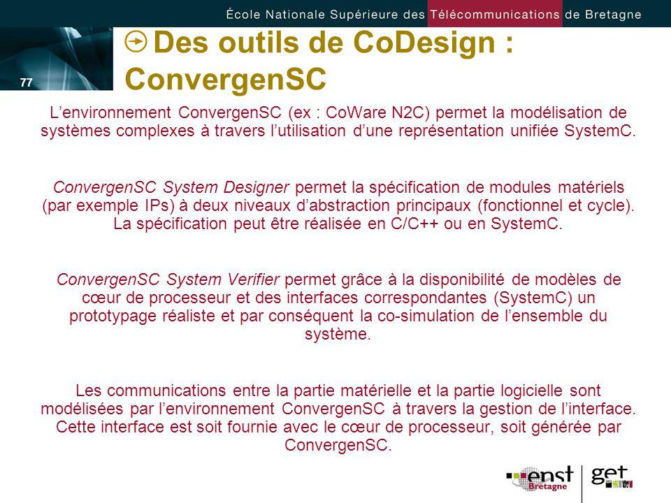 Des outils de CoDesign : ConvergenSC