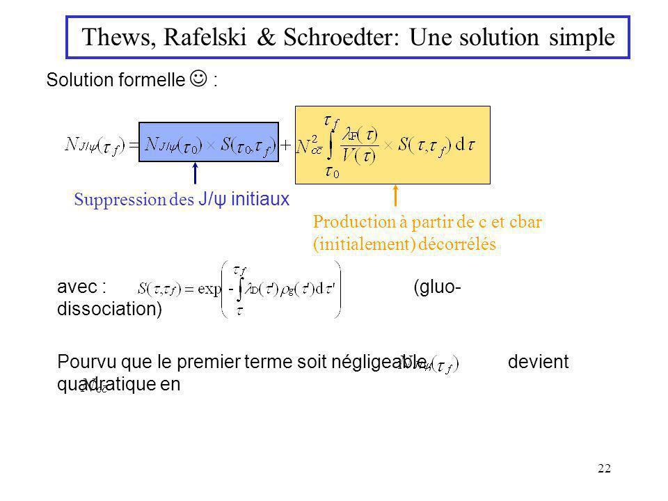 Thews, Rafelski & Schroedter: Une solution simple