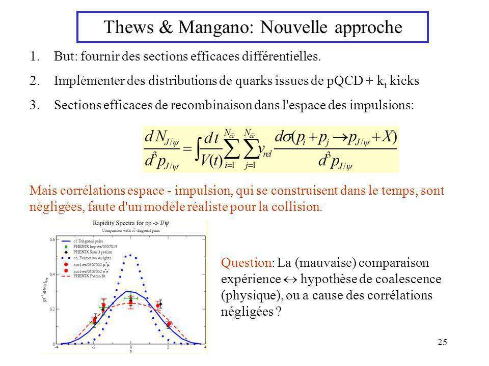 Thews & Mangano: Nouvelle approche