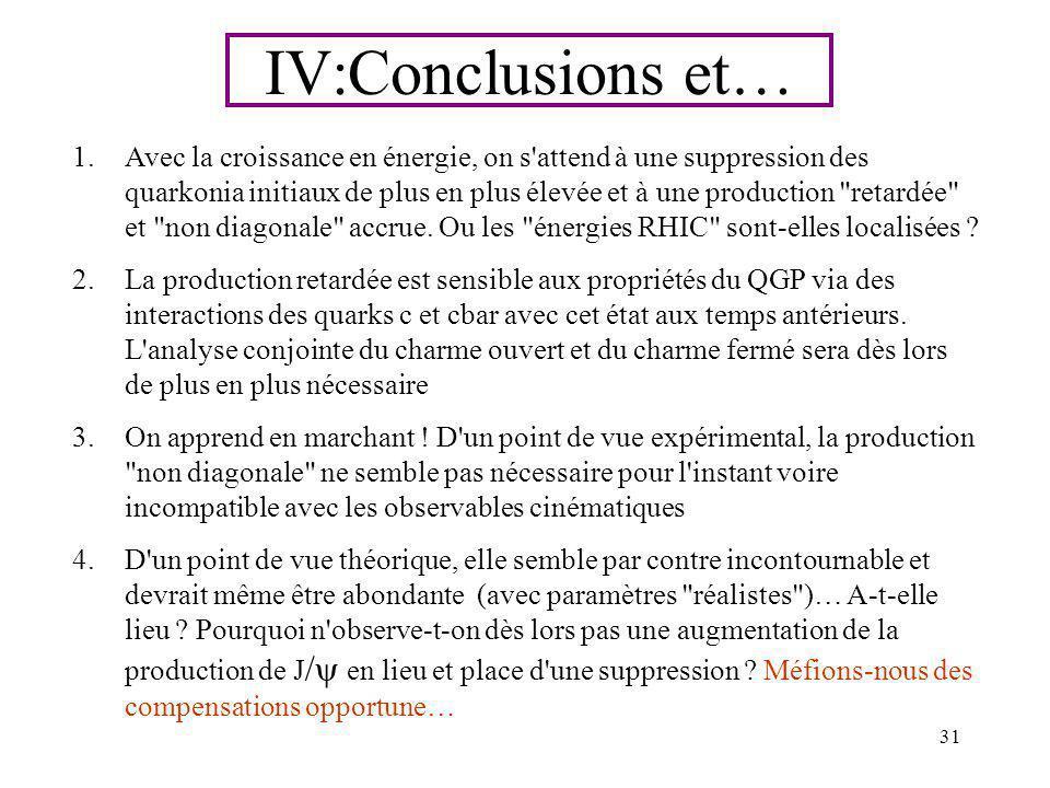 IV:Conclusions et…