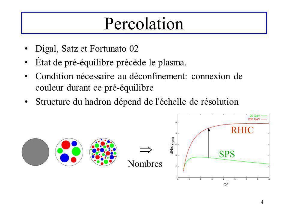 Percolation  Digal, Satz et Fortunato 02