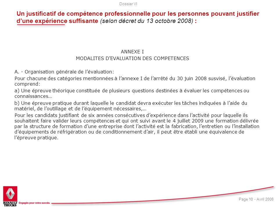 MODALITES D'EVALUATION DES COMPETENCES